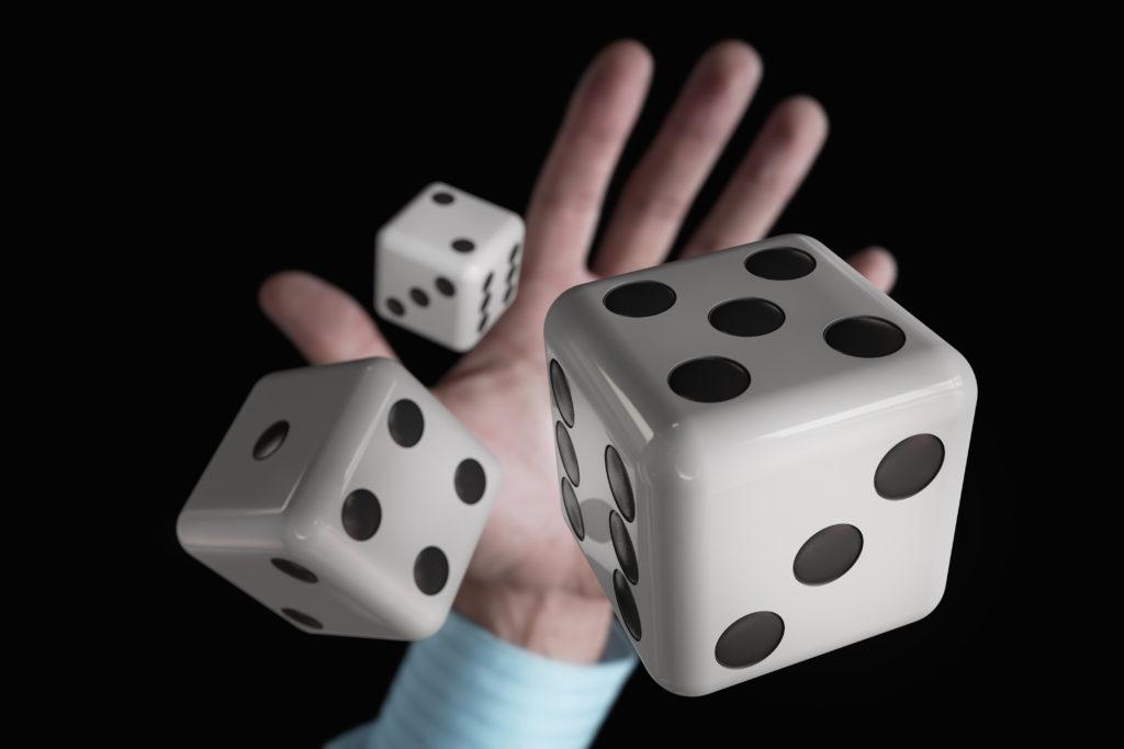 Rolling three dice