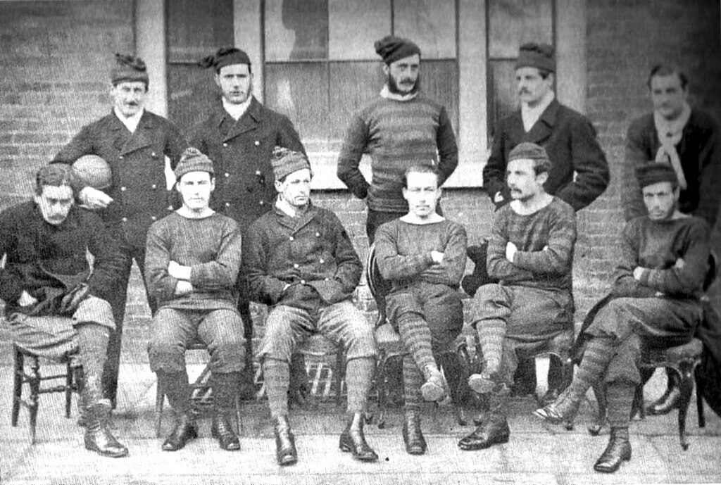 The Royal Engineers Football Team picture in 1872