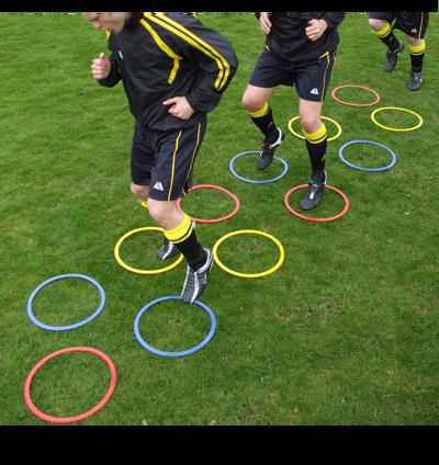 Pendle football agility hoops