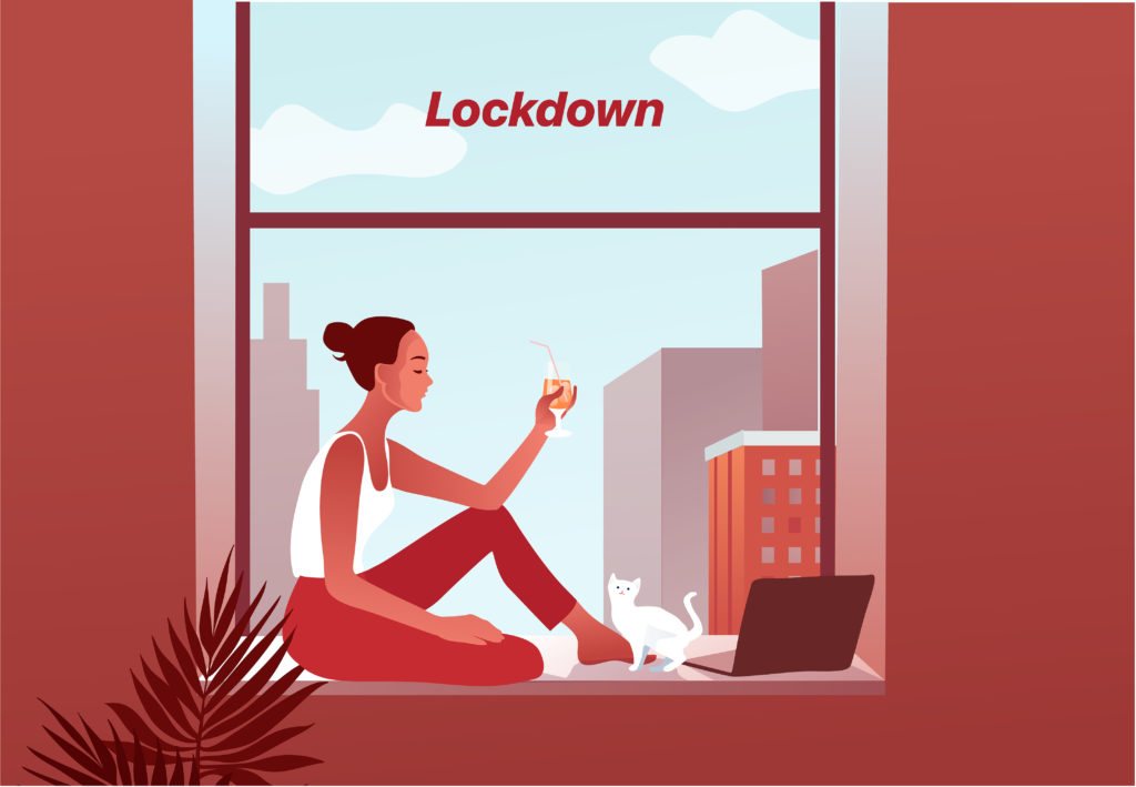 Woman in lockdown