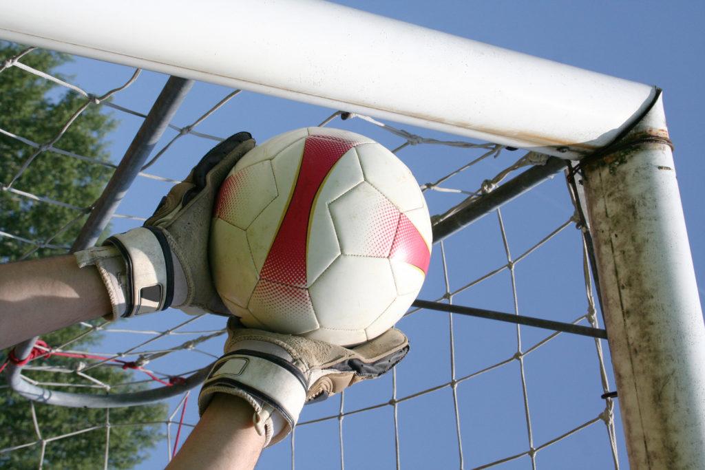 Goalkeeper Catching Football