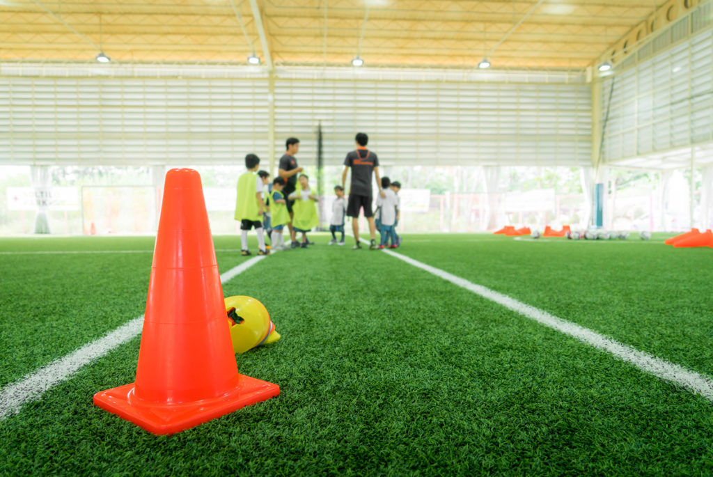 Football Training Cone and Marker Drills