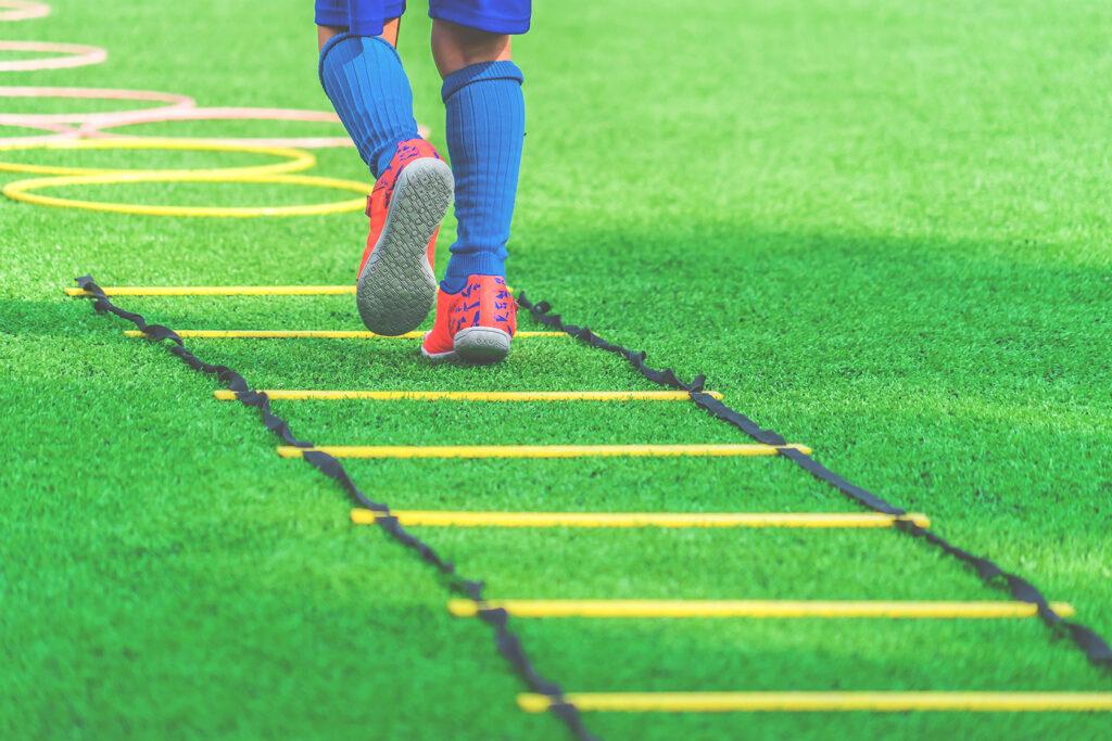 Football training ladder drills