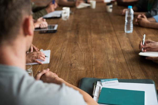 Football club committee meeting