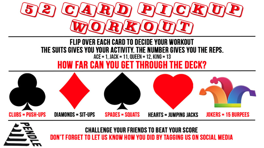 52 Card Pickup Workout Generator