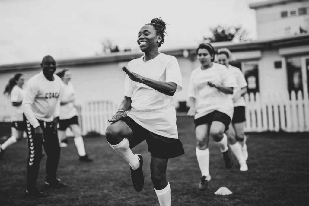 Women's Football Training Session