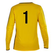 Number 1 on the back of a Pendle Apollo Goalkeeper Shirt
