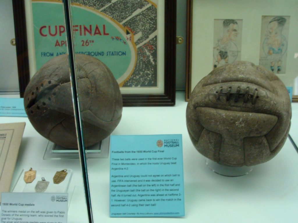 Footballs from the 1930 World Cup Final