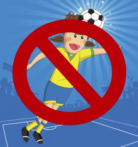 Football banning heading for children