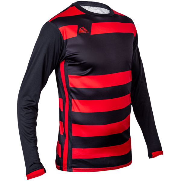 Pendle sale Boca red and black striped football shirt