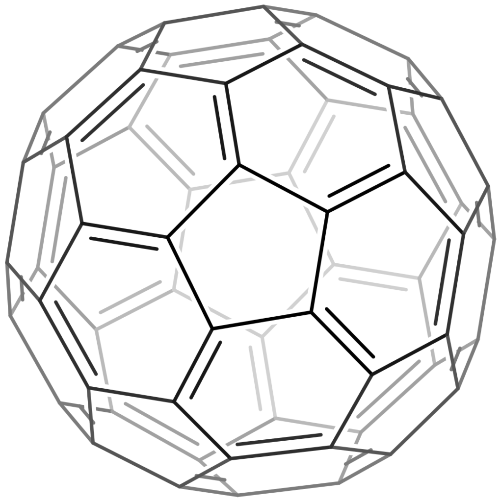 Buckminsterfullerene 2D skeletal