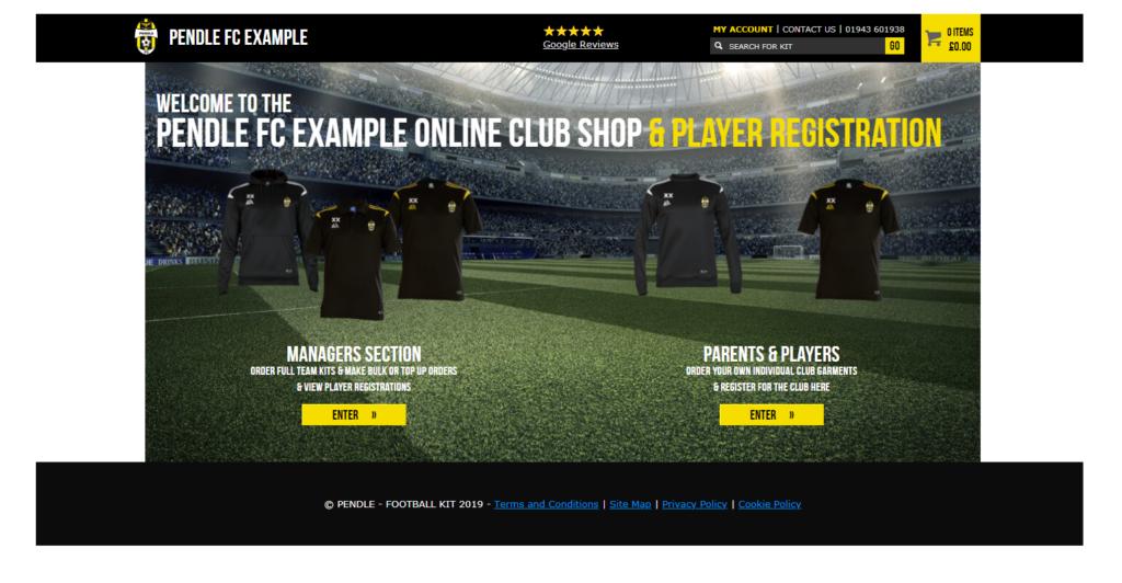 Pendle Sportswear Club Shop