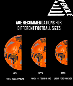 Difference between sizes of footballs