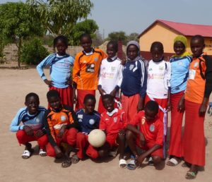Gambian kids wearing Pendle shirts