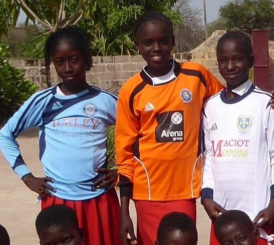 Gambian kids wearing Pendle shirts