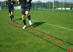 Football Agility Ladder Training Drill