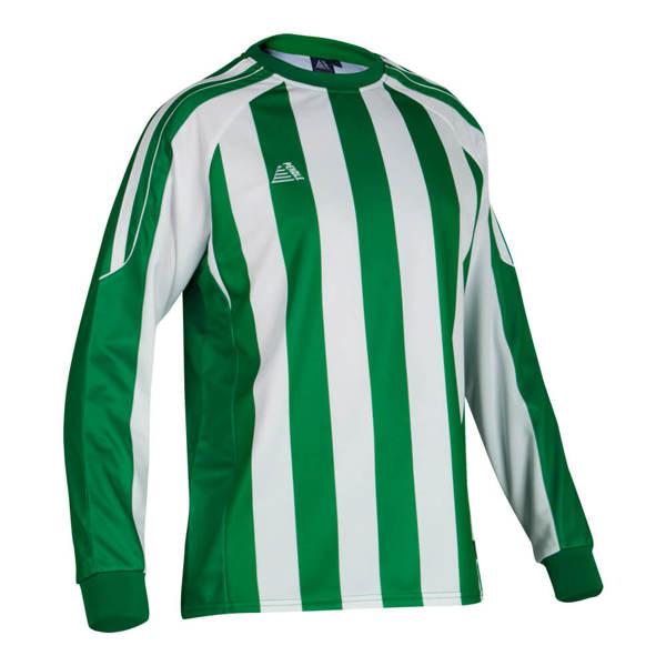 Milano striped football shirt in green/white