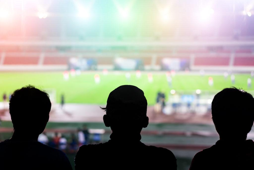 Football fans watching a match