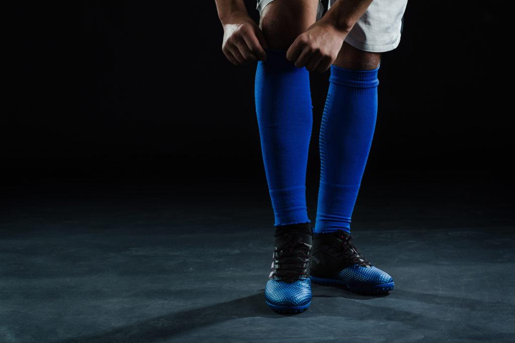 Football player wearing football socks