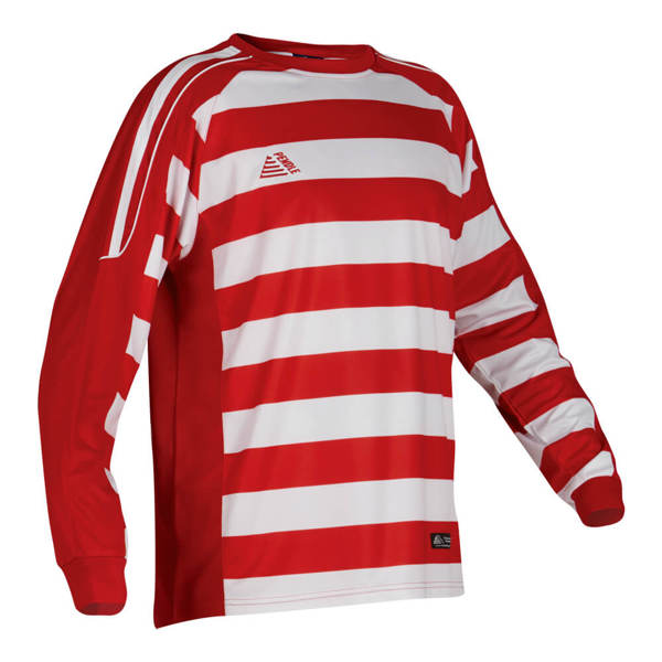 Parma red and white striped football shirt