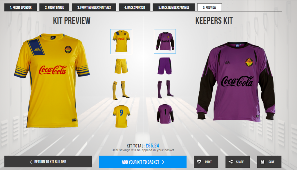 Pendle Sportswear Custom Football Kit Preview