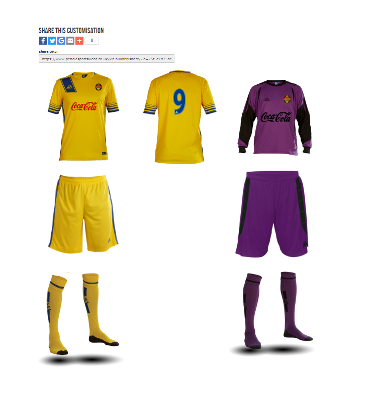 Pendle Sportswear Custom Football Team Kit