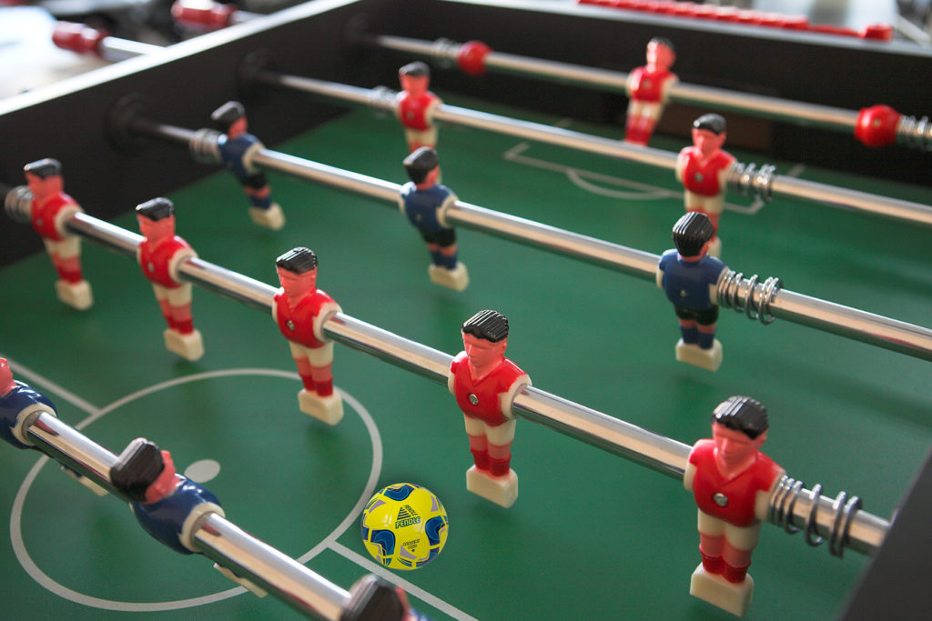 Table football with Pendle football