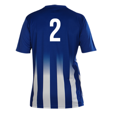 Number 2 on the back of a Pendle Roma Football Shirt