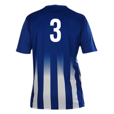 Number 3 on the back of a Pendle Roma Football Shirt