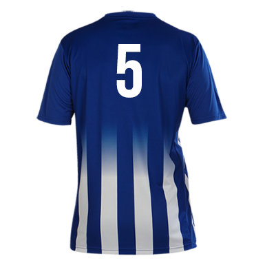 Number 5 on the back of a Pendle Roma Football Shirt