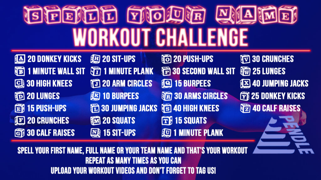 spell your name workout challenge