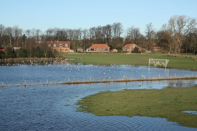 Football pitch flooding, Tadcaster Ings