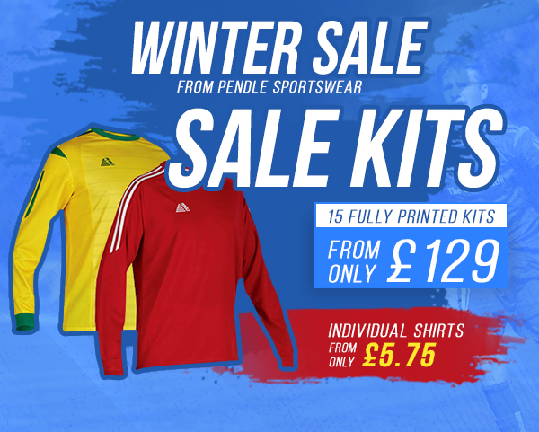 Winter sale from Pendle Sportswear. Sales Kit from only £129 or shirts from £5.75 each