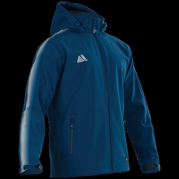 Inter waterproof football jackets in royal/white
