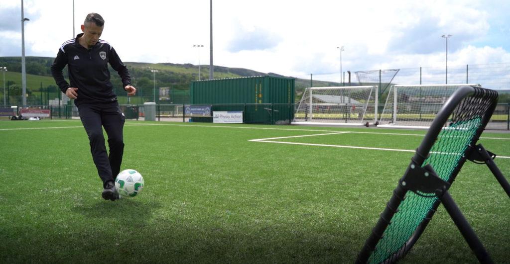 Pendle Football Rebounder Action Shot